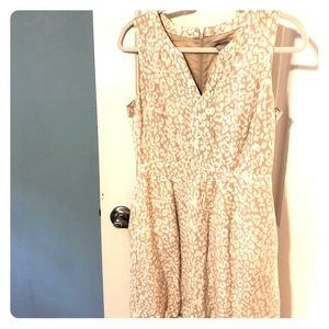 Banana republic leopard linen dress